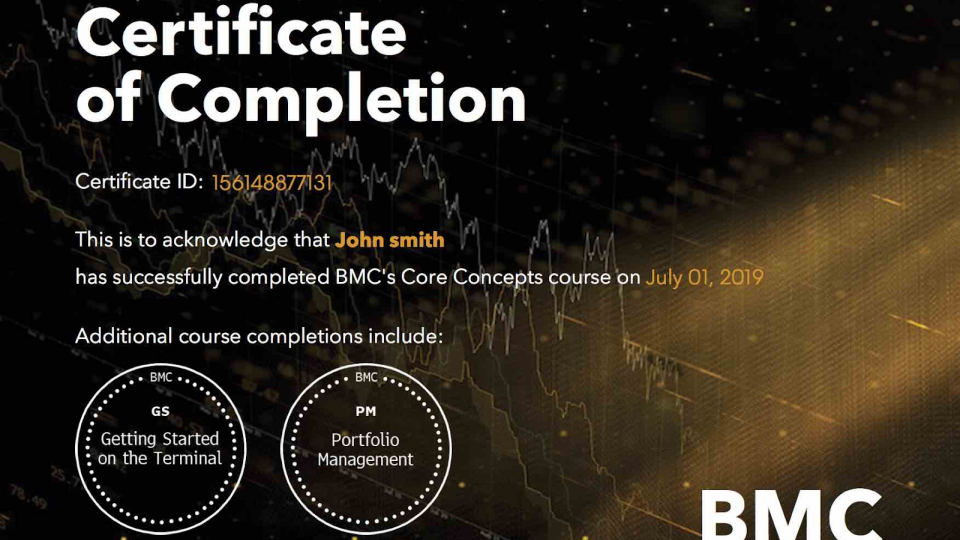 A great opportunity to complete the Bloomberg Market Concept!